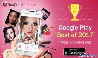 YouCam Makeup - селфи-камера & волшебный мейковер v5.31.3 PRO [Android]