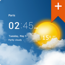 Transparent clock & weather Pro 0.91.07.03-погода
